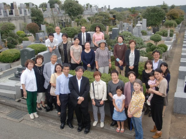 2014年墓前召天者記念式典と埋葬式   新宿シャローム教会 Shinjuku ...